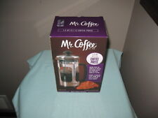 New listing Mr. Coffee 1.2 Qt. Coffee Press Stainless Steel Frame-New