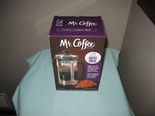 MR. COFFEE 1.2 QT. COFFEE PRESS STAINLESS STEEL FRAME-NEW