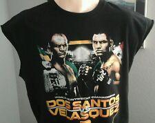 UFC 155 Junior Dos Santos Cain Velasquez Mma  Boxing Black TShirt Medium