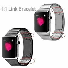 1:1 Stainless Steel Link Watch Strap Band For Apple Watch 38mm 40mm 42mm 44mm