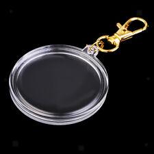 Portable Acrylic Coin Holder Keychain DIY Coin Keyring 40mm Collection Box#1