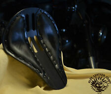 Motorcycle Solo Bobber Seat M Chopper Custom Softail Harley Leather handmade