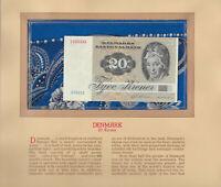 Most Treasured Banknotes Denmark 1980 20 Kroner P-49b.3 UNC A5801E