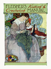 Fleisher's Knitting & Crochet Manual #6 c.1906 HUGE Book of Vintage Patterns