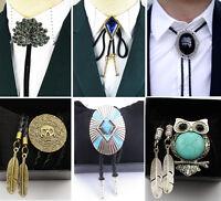 Indian Western Cowboy Bolo Ties Rodeo Dance Bola Tie Necktie Bootlace Tie Gift