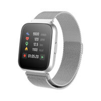 FOREVER Smartwatch IP67 Bluetooth Armbanduhr Sport für Android & iOS Silber