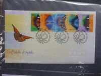 AUSTRALIA 1998 BUTTERFLIES STRIP 5 STAMPS FDC FIRST DAY COVER
