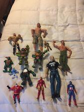 Action Figure Lot Set Stone Cold Steve Austin Tmnt Army Man Iron Man Cpt America