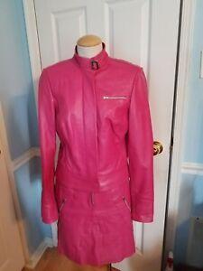 cache vintage leather suit