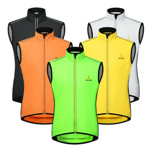MTB Cycling Vest Windproof Reflective Jacket Mountain Bike Mesh Breathable Tops