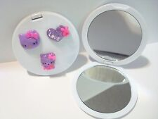 Hello Kitty Purple Head and Love Compact Mirror for Girl