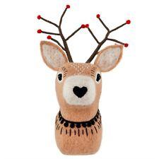Sass & Belle Christmas Folk Deer head Wall Decoration 30 x 15 x 9.5cm New