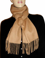 LUXE OH `DOR® 100% Kaschmir Cashmere Schal Scarf Camel Brown Herren Men One Size