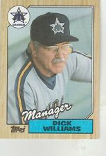 FREE SHIPPING-MINT-1987 Topps Seattle Mariners  #418 Dick Williams MANAGER