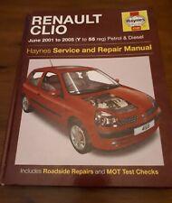Renault Clio Petrol & Diesel.2001-2005 Haynes Workshop Manual
