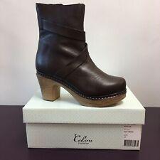 Calou Stockholm Julia 2 Brown Platform Heel Boots Size 37