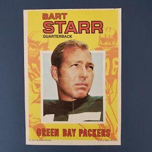 NFL-TOPPS 1971 TOPPS FOOTBALL MINI PIN-UP POSTER INSERT / BART STARR #10