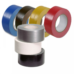 QTX HQ Duck Tape Water Resistant Gaffa Coloured Rolls 48mm x 50M