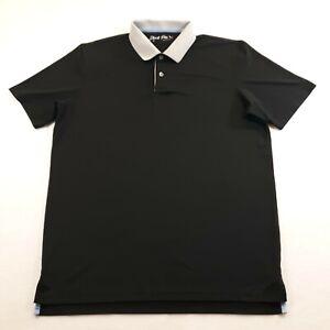 Short Par 4 By Greyson Adult Size Medium Golf Polo Shirt Polyester Spandex Mens