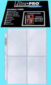 "25 ULTRA PRO PLATINUM 4-POCKET Pages Sheets Protectors Binder 3-1/2"" x 5-1/4"""