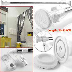 70-120cm Extendable Telescopic Shower Curtain Pole Rail Rod Bath Door Window New