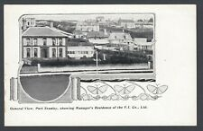 More details for postcard falkland islands general view port stanley manager residence fi co ltd