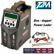 T2m Wizard X2 Power Caricabatteria 80 Duo Ac-Dc 2 x 80 Watt T1248 Das Orginale