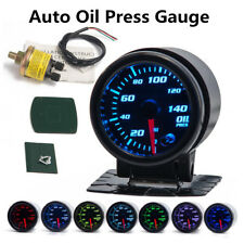 "Universal 2"" 7 Color LED Car Oil Press Gauge Oil Pressure Meter w/Sensor+Holder"