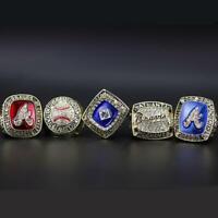 Atlantas Braves 1991 1992 1995 1996 1999 World Series Championship Rings Size 11