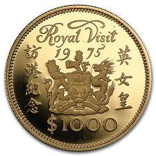 1975 Hong Kong Gold $1000 Royal Visit Proof - SKU #90256