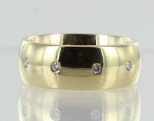 Hallmarked 9ct Yellow Gold Fully Diamond Set Wedding Band REF2081