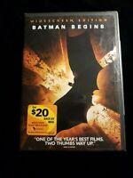 Batman Begins (DVD, 2005, Widescreen) DC. Christian Bale.  Christopher Nolan NEW