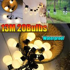 20 Bulb Globe Festoon Fairy Lights Waterproof GU50 LED SMD Outdoor Decoration