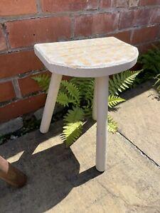 Vintage French three leg milking stool