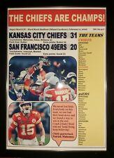 More details for kansas city chiefs 31 san francisco 49ers 20 - 2020 super bowl - framed print