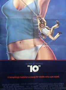 """""""10"""" ONE SHEET MOVIE POSTER JULIE ANDREWS BO DEREK DUDLEY MOORE COMEDY (1979)"""