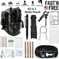 65 in 1 Outdoor Survival Kit Camping Tactical Emergency Hunting EDC Tools Set