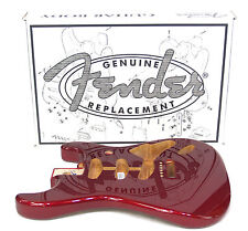 FENDER STRATOCASTER BODY VINTAGE BRIDGE CANDY APPLE RED 099-8003-709 4 lbs