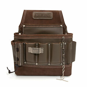 Estwing 8 Pocket Leather Electrician's Tool Belt Pouch 94749