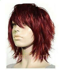 Beautiful! stunning short women's red brown hair wigs+free wig cap