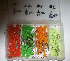 Eagle Claw Jig Heads in 4 colors in 4 sizes & 4 color Hooks in a box