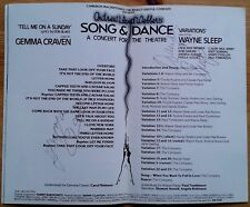 Wayne Sleep & Gemma Craven signed Song & Dance programme Palace Theatre 1982