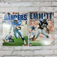 Vintage NFL Starline School Folder Barry Sanders Emmitt Smith 1993 Cowboys Lions
