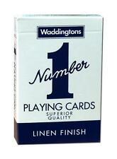 Waddingtons Number 1 Deck of Playing Cards - Available in Red & Blue