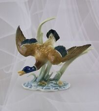 Hutschenreuther Figur Wildente im Flug Figurine Achtziger 1.Wahl Porzellanfigur