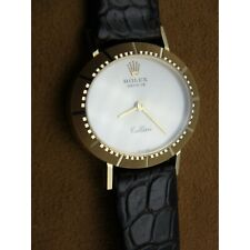 ROLEX GENEVE CELLINI GOLD DIAL 18K YELLOW GOLD LADIES WATCH