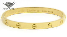 Cartier LOVE Bracelet 18k Yellow Gold Size 18 with Box/Certificate/Tool