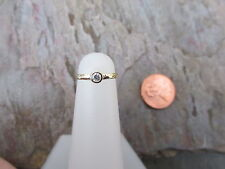 10 KT Yellow Gold Band TOE Ring w/ Stone Adjustable One Size NEW THIN Cuff