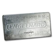 100 oz Engelhard Silver Bar - Struck Silver Bar - SKU #69621