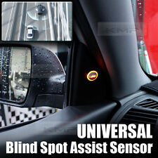Blind Spot Assist Warning LED Sensor Light Back Up Buzzer For Universal Car